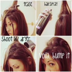 """get the """"bump it"""" look with no bump it."""