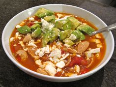 spicy chicken & avocado soup-probably could make this in a crock pot