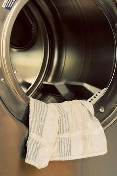 Make a reusable dryer sheet with a hand towel.  Pinner says: THIS REALLY WORKS & LAUNDRY IS SUPER SOFT! Soak hand towel in fabric softener. Squeeze out any remaining drops from towel. Hang over a chair (or outside on clothesline) to dry. House smelled super clean for the 3 days while this towel was drying completely. Took 3 days! Make sure it dries completely! After towel dries you just throw it in your dryer along with clothes & use it as a dryer sheet for 40-50 loads before soaking again.
