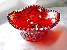 Vintage L. E. Smith Carnival Glass Square Bowl