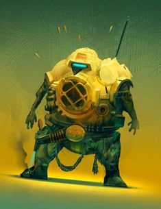 Futuristic Illustrations of Robot Art