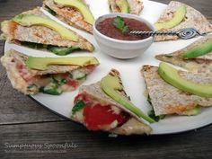 Sumptuous Spoonfuls: Spinach Avocado Quesadillas