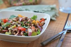 Indian Black-Eyed Pea Salad | Girl Cooks World