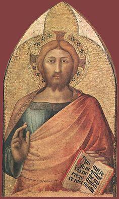 Simone Martini ~ Blessing Christ, c.1317