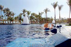 Swimming pool at Barcelo Bavaro Beach Resort in Punta Cana, Dominican Republic.