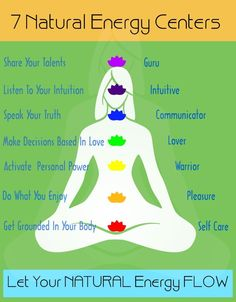 Seven Natural Energy Centers. Let your natural energy flow.