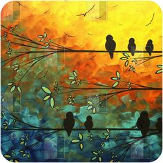 Madart Inc. Birds Of A Feather Wall Art