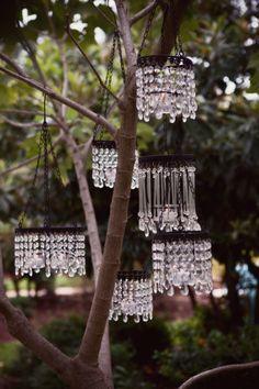 Garden chandeliers ... pretty!