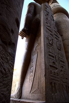 Back of Ramesses II statue, Luxor, Egypt