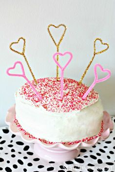 Pipe Cleaner Cake Toppers