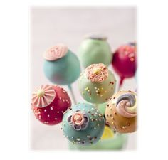 Vintage Pastel Colored Cake Pops cake idea, cake pops, cake iii