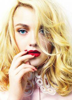Dakota Fanning for Elle UK February 2012 by David Slijper