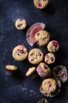 Cranberry Zucchini Carrot Muffins via Bakers Royale: One bowl. #Muffins #Cranberry #Zucchini #Carrot #Healthy