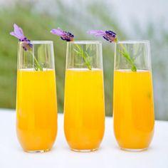 Lavender-Peach Bellini Cocktail