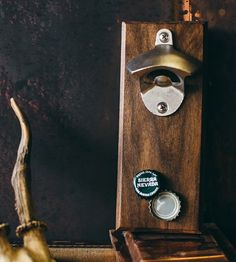 Magnetic Porter Bottle Opener - love that it's magnetic (and so cheap for hand crafted)