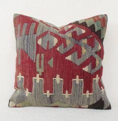 SALE   Decorative Pastel Kilim Pillow Pale Red n' by Sheepsroad, $68.00