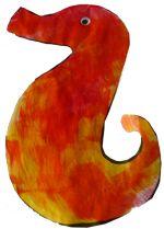 Glue Painted Sea Horse