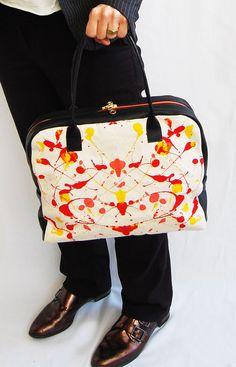 Leather bag, colorful bag, every day bag