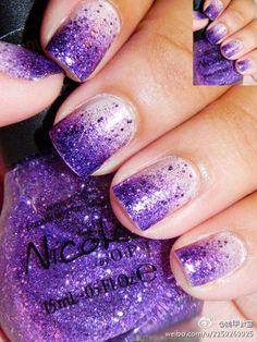 LOVE this purple gradient!