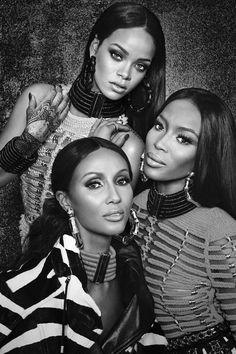 Rihanna, Iman & Naomi Campbell for W Magazine, September 2014  Photographed by: Emma Summerton
