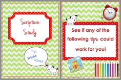 This is a PDF presentation on Scripture Study!  TONS of great ideas!!!  You will get so many ideas from this!  Use this with yourself, famil...