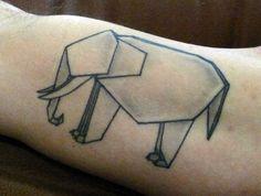 Origami elephant by Derek at Webber Street Studios, Sarasota, FL.