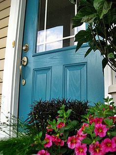 Benjamin Moore Front Door Paint | Benjamin Moore colors - Calypso Blue front door | paint colors