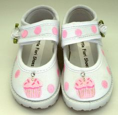 Birthday cupcake shoes