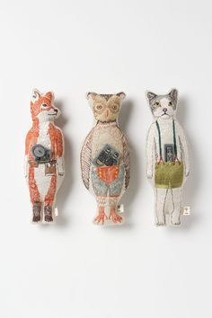 Pocket dolls by Coral & Tusk.