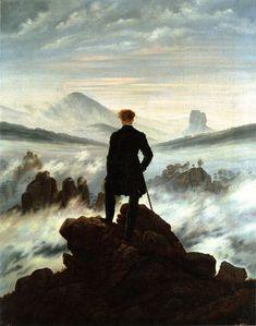 Caspar David Friedrich - Wanderer above the Sea of Fog (1818) - Hamburger Kunsthalle (Hamburg).