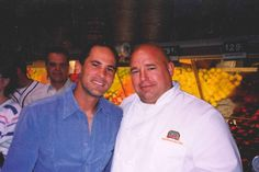 Chim Jim with former Cleveland Indians baseball player, Omar Vizquel.
