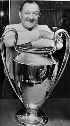 Bob with one of the three European Cups he won