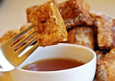 Mmm...Cinnamon Sugar French Toast Bites are totally delicious for brunch with a glass of Sutter Home Bubbly Brut!