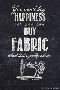you can't buy happiness but you can buy fabric @ModaFabrics