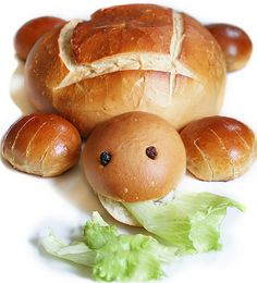 Turtle Bread!!! SO CUTE!