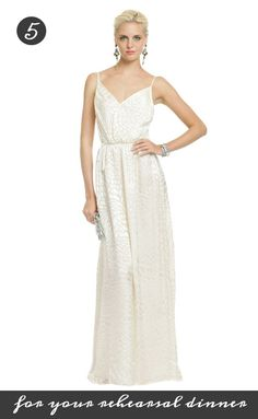 Get ready for your big day by wearing this gorgeous Yumi Kim dress at your rehearsal dinner! It's only 100 dollars on Rent the Runway: http://www.renttherunway.com/shop/designers/yumikim_dresses/snowmountainmaxi