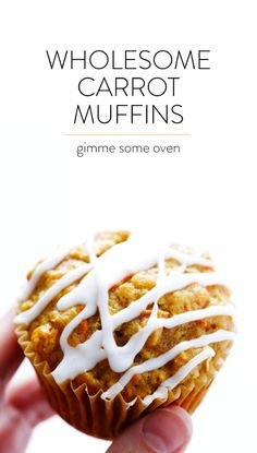 Wholesome Carrot Muffins | Gimme Some Oven
