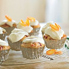 Cranberry-Orange Tea Bread Muffins | MyRecipes.com