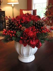 Christmas Silk Flower Arrangements On Pinterest