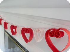 I am thinking of trying this felt heart garland down my staircase.