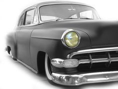 """1954 Chevy Bel-Air (Matte Black is a little tiring after a while.. I get it.. it's cool. But all it really says is """"My creativity stops [here] & is dull as a door knob"""" ..or your paint job really"""