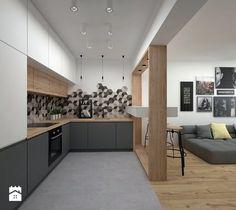 Mieszkanie - 40 m2 - Kuchnia, styl skandynawski - zdj??cie od BIG IDEA studio???