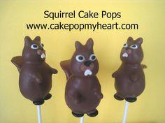 Squirrel cake pops