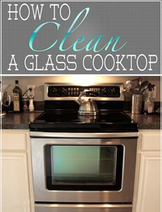 How to clean glass stove top!!