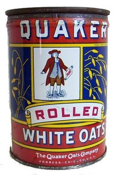 Quaker Rolled White Oats.