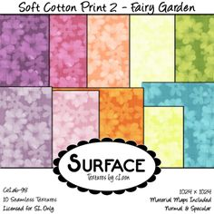 Surface - Soft Cotton Print 2 - Fairy Garden Contact | Flickr - Photo Sharing!