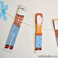 Super simple paint stick dolls that make great decorations!