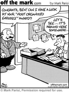 #organize #desk #paper