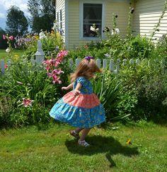 Girls Peasant Style Dress Tiered Twirly Dress by SewPretty4You, $39.99
