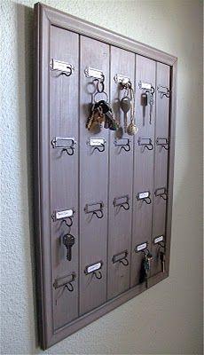 DIY tutorial vintage hotel key rack